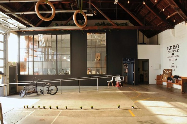 The Red Bay Coffee roastery in Oakland. Photo by Red Bay Coffee.