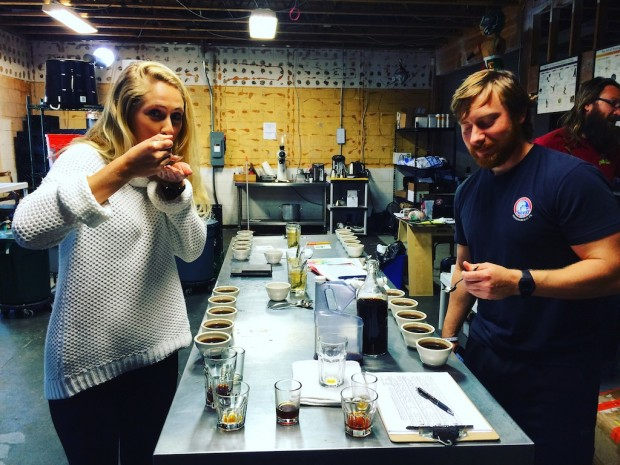 Cupping at Swell Coffee.