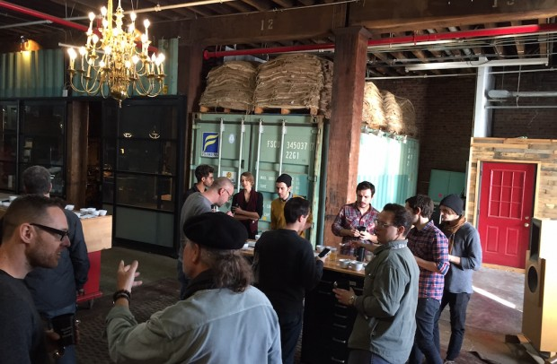 Nordic Approach coffee cupping at Pulley Collective in New York. Photos courtesy of Pulley Collective.