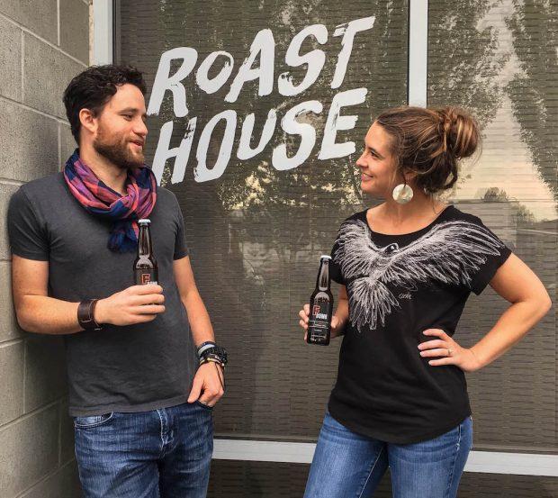 Roast House friends Jon and Amber Bonetti.