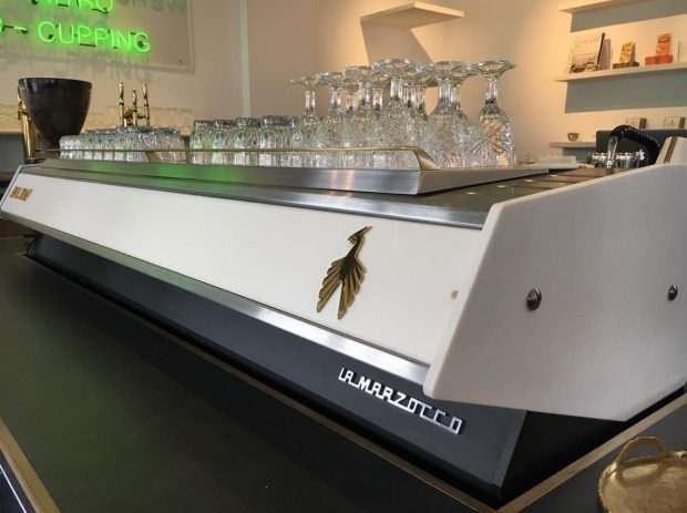 The La Marzocco custom machine created in collaboration with Pantechnicon Designs. All images courtesy of All Day.