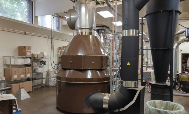The catalytic oxidizer at Portland Roasting.