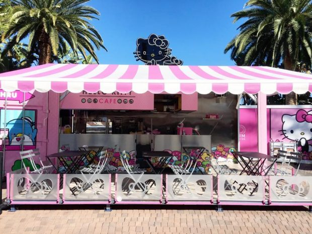 Hello Kitty Café Opens with Portola Coffees and an Explosion of Pink