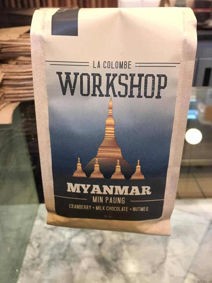 La Colombe's Myanmar offering, unveiled last week in Washington DC. Winrock International Facebook photo.