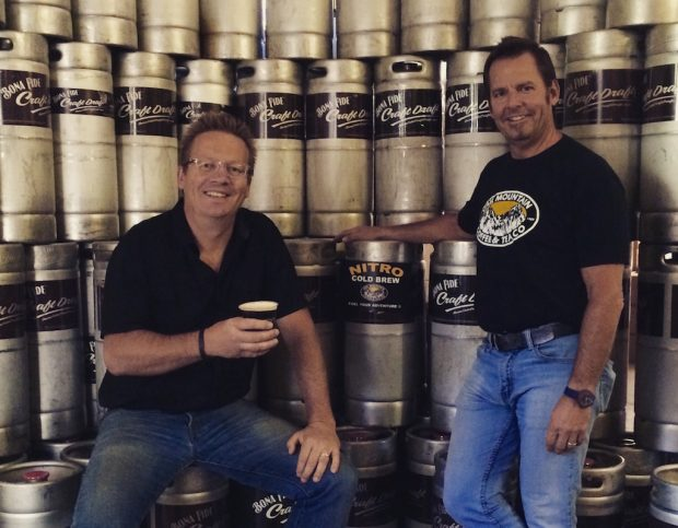 Vail Mountain Coffee & Tea Co-Founders Chris Chantler and Craig Arseneau.