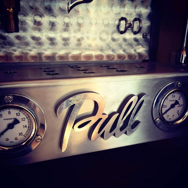 pull espresso tray