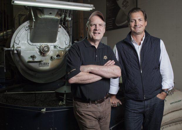 Fonté master roaster Steve Smith (left) and founder Paul Odom.