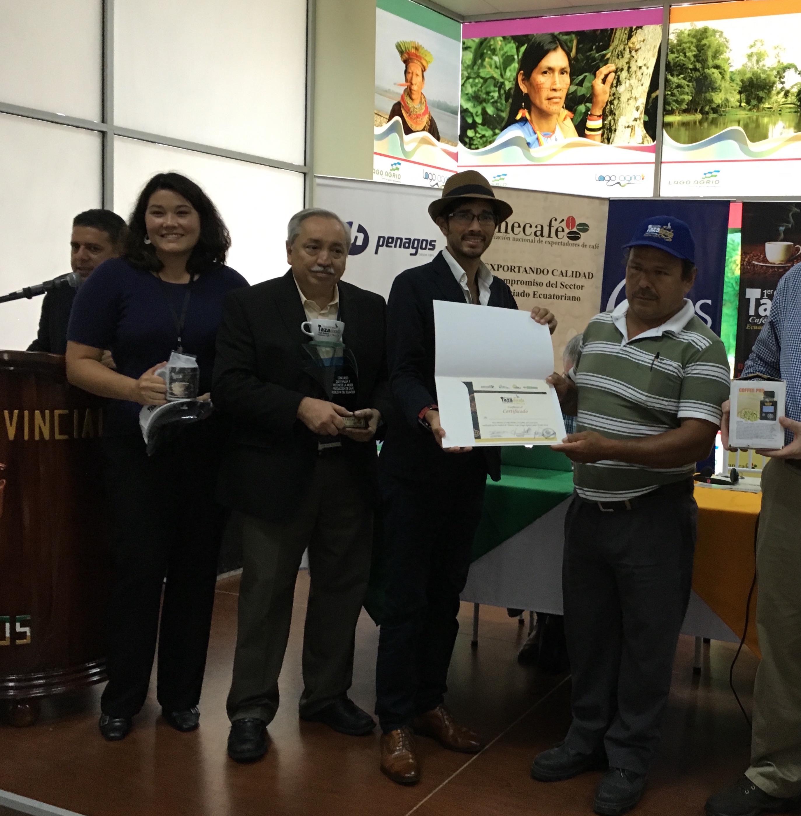 Winning farmer Mr. Calixto German Rivera Narvaez