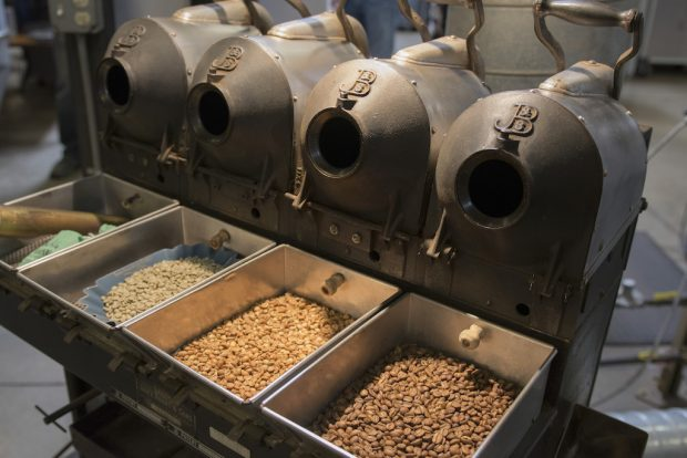 Sample roasters. Cult Coffee Roaster photo.