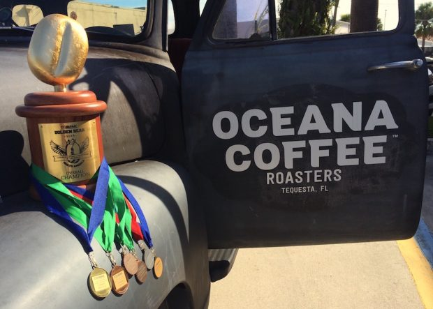 Oceana Coffee of Tequesta, Fla., took the top prize at Golden Bean 2016. Photo courtesy of Oceana Coffee.