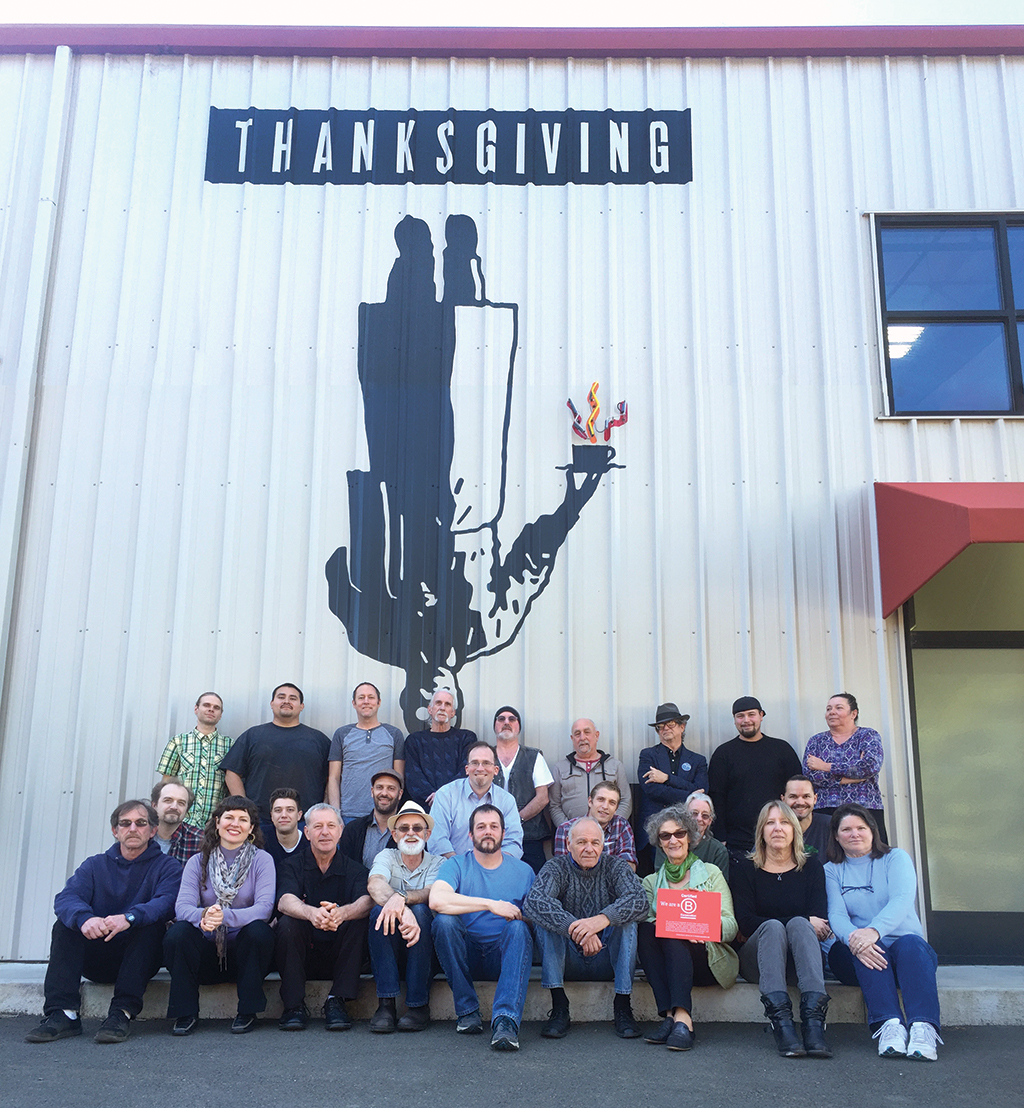 The Thanksgiving Coffee Co. team today. Photo courtesy of Thanksgiving Coffee Co.