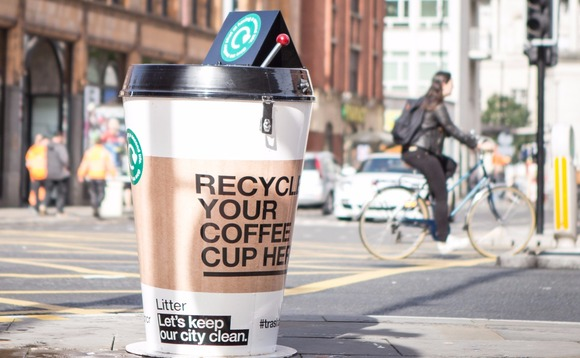 There Are Giant Coffee Cup Bins on the Streets of Manchester, and Here's Why