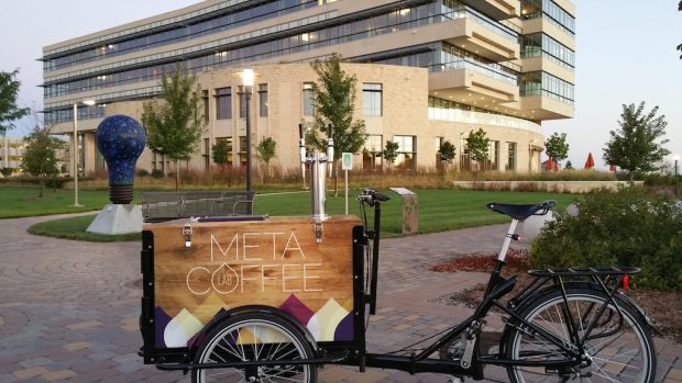 The Meta Coffee Lab trike.