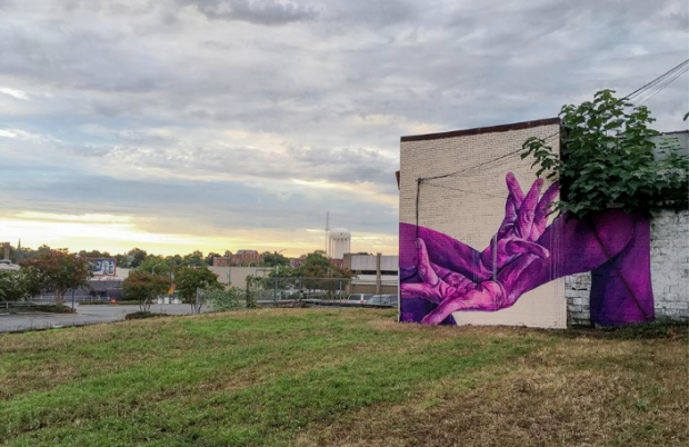A No Blank Walls mural by Greensboro-based artist Taylor White.