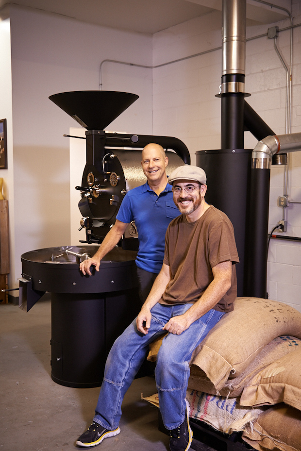 Stringbean Coffee owners Peter Cohen (front).