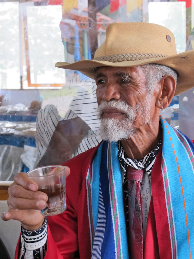 A coffee farmer in Gleno