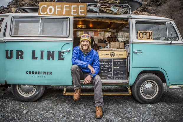 Erik Gordon of Carabiner Coffee/Photo by Andy Earl