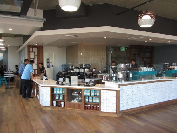 Bird Rock's Little Italy, San Diego, cafe. Bird Rock Coffee Roasters photo.