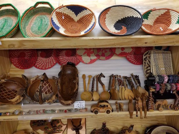 Imported items from Kenya inside the new café. Growers Alliance Coffee Company photo.