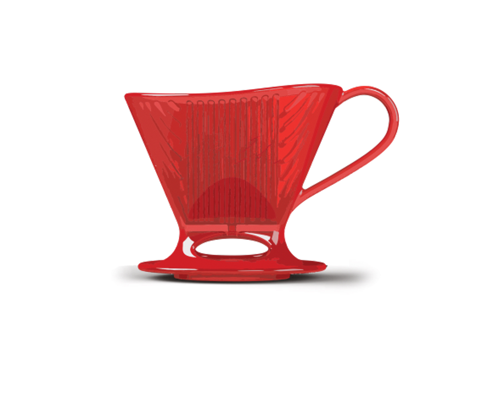 Melitta - Signature Series Pour-Over Coffeemakers - Tritan Red