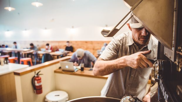 Jamie Bestwick's Rothrock Coffee Relishes the Roast and the Ride