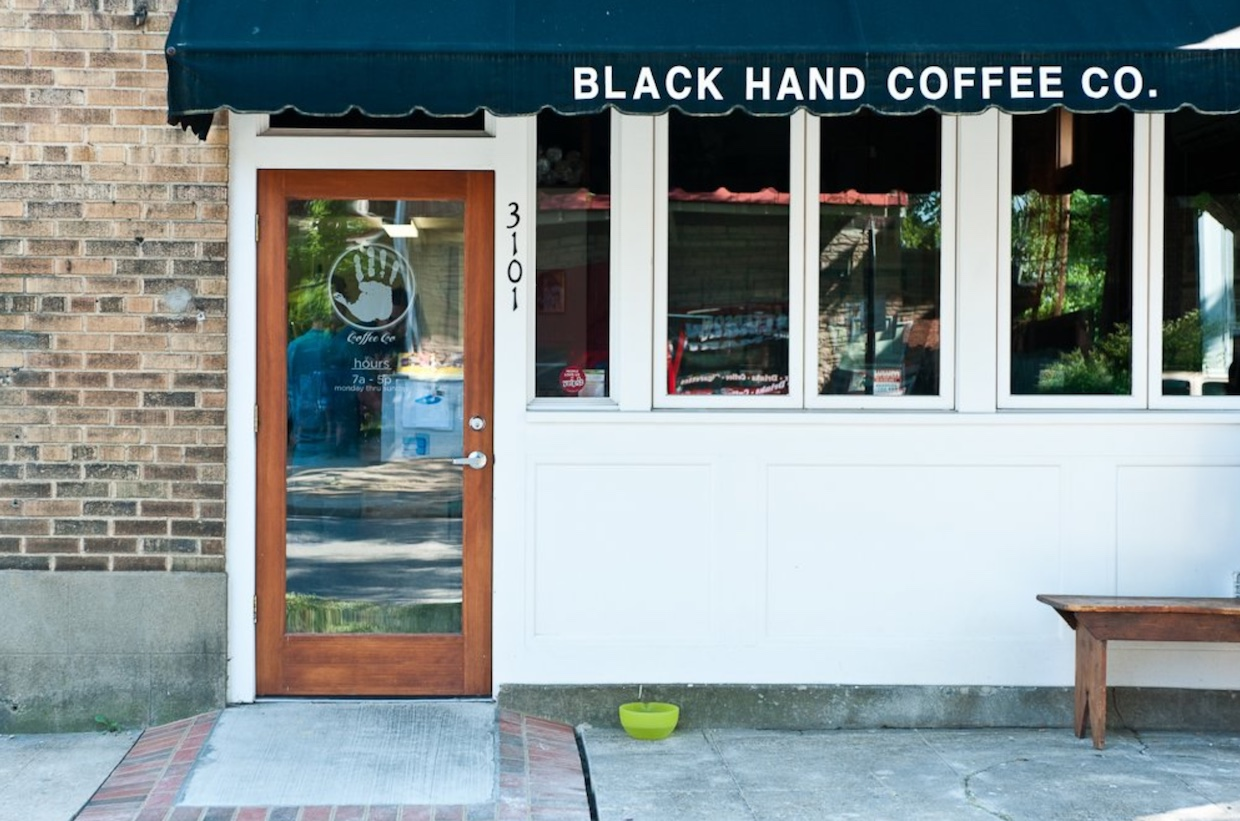 The original Black Hand Coffee location. All images courtesy of Black Hand Coffee.