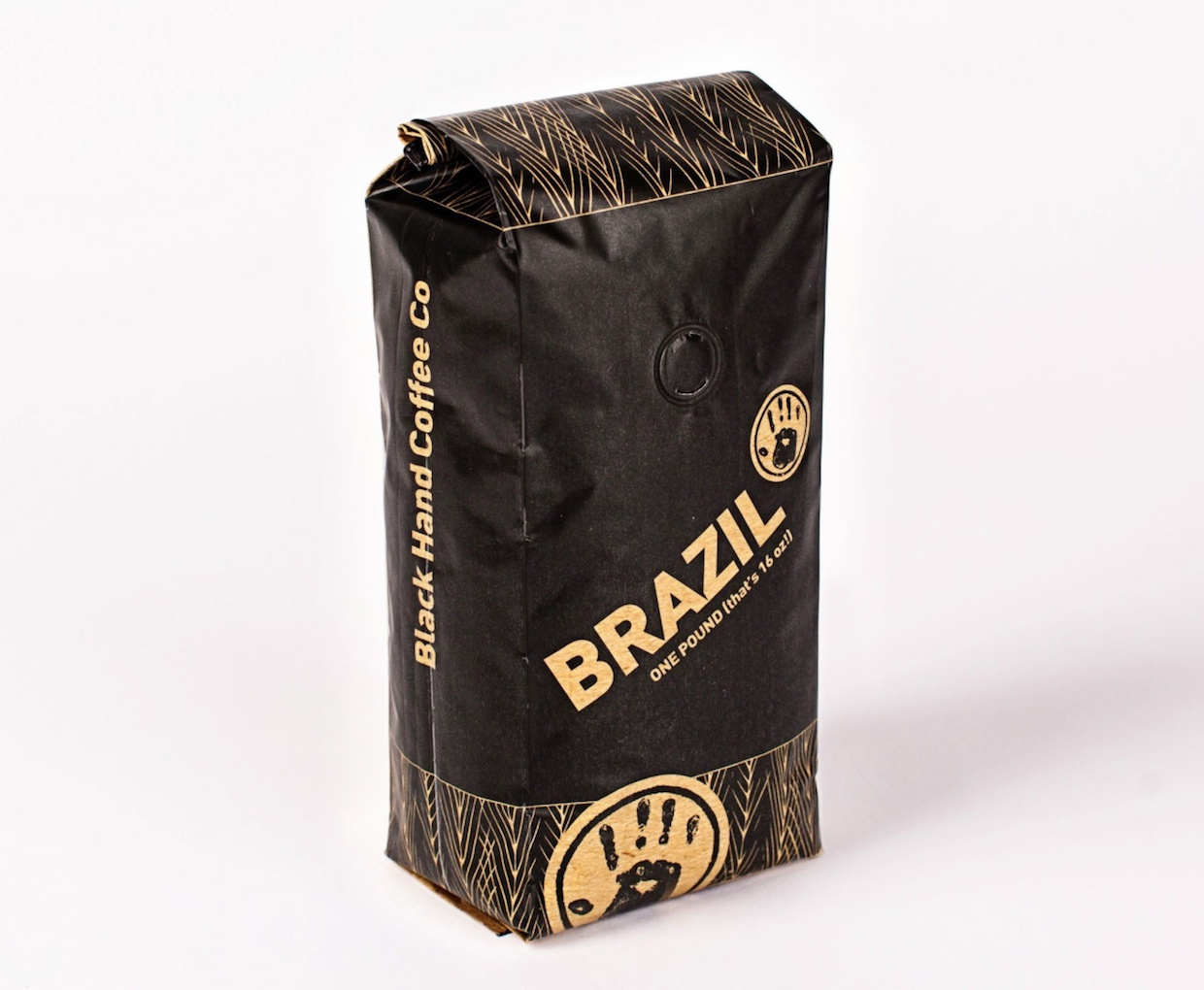 black hand coffee bags