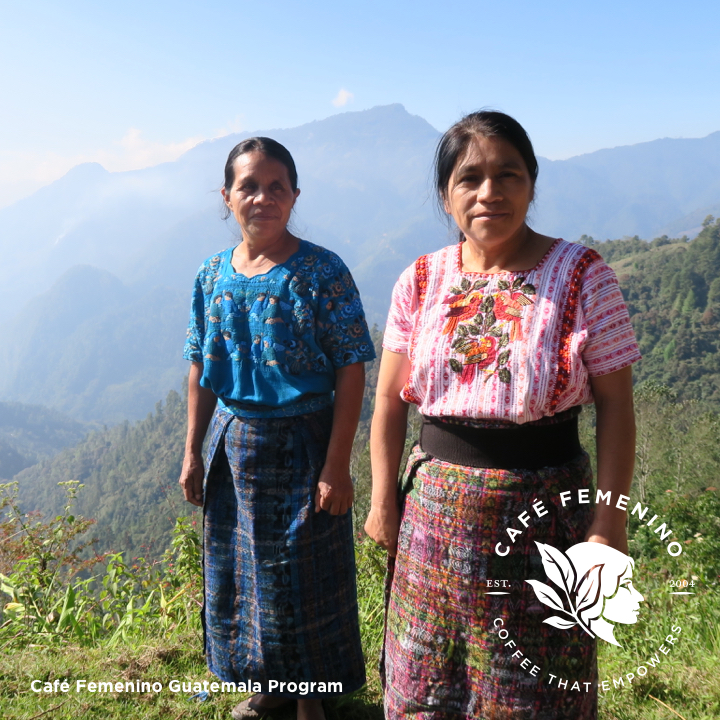 Café Femenino Guatemala program marketing image.