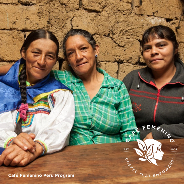 Café Femenino Peru program marketing image.