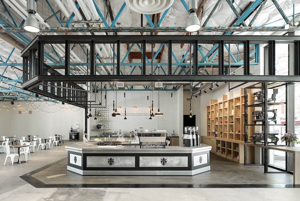 The La Marzocco Café and showroom in Seattle.