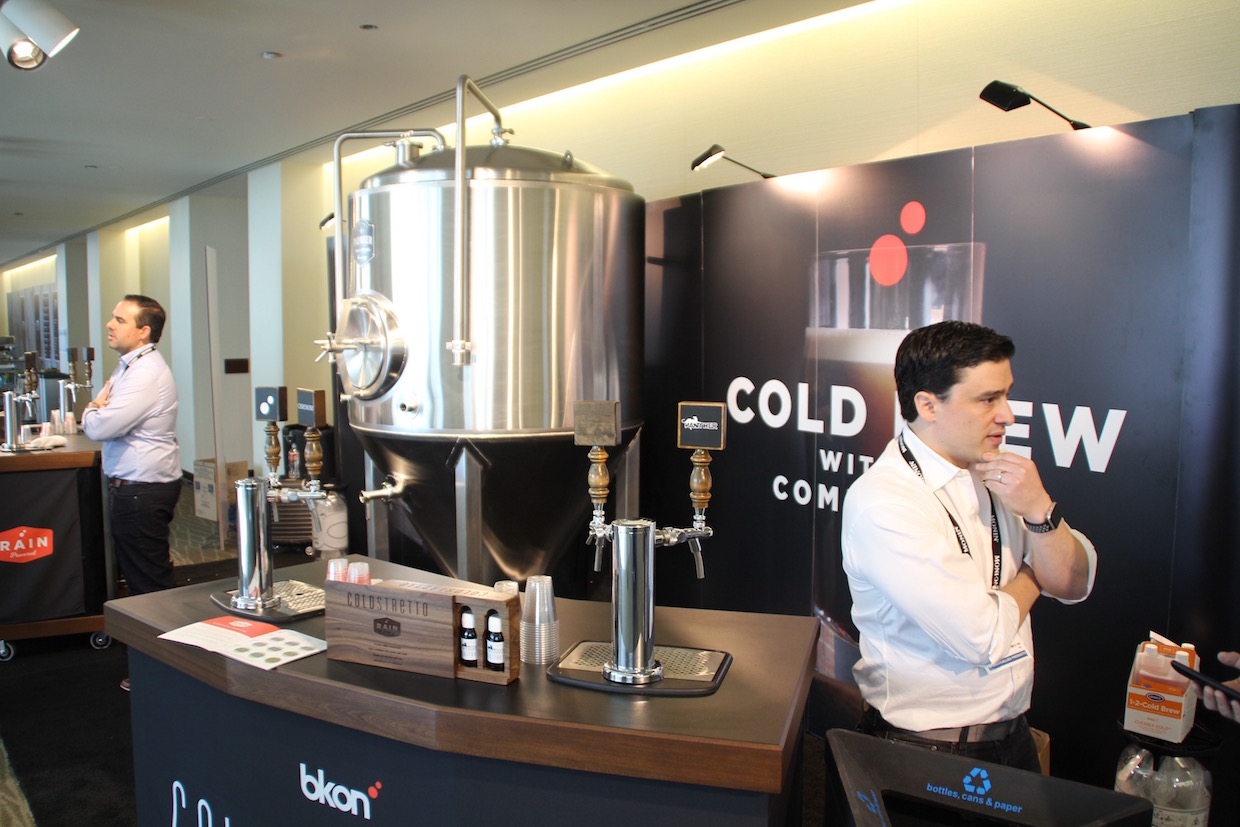 BKON Co-Founders Dean (left) and Lou Vastardis at the SCA Expo in Seattle. Daily Coffee News photo/Nick Brown.