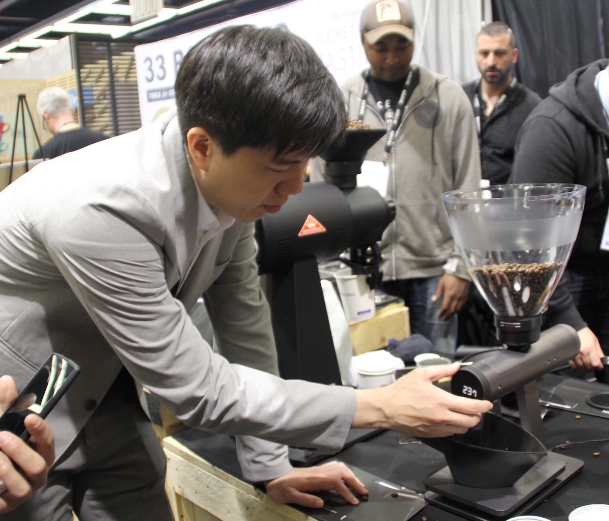 Acaia Co-Founder Rex Tseng. Daily Coffee News photo.