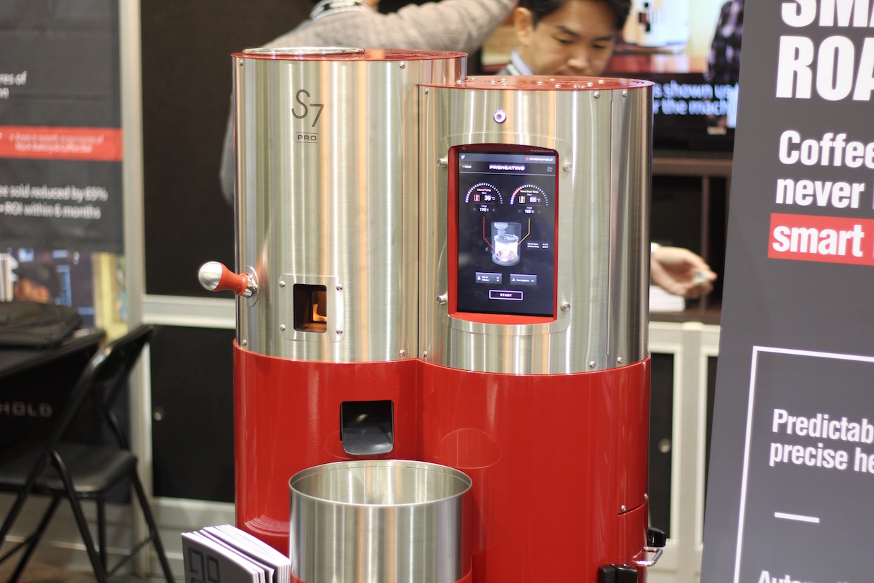 Stronghold S7 Pro roaster. Daily Coffee News photo.