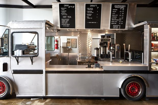 A Bread Truck Transformed in Chicago's New Werewolf Coffee Bar