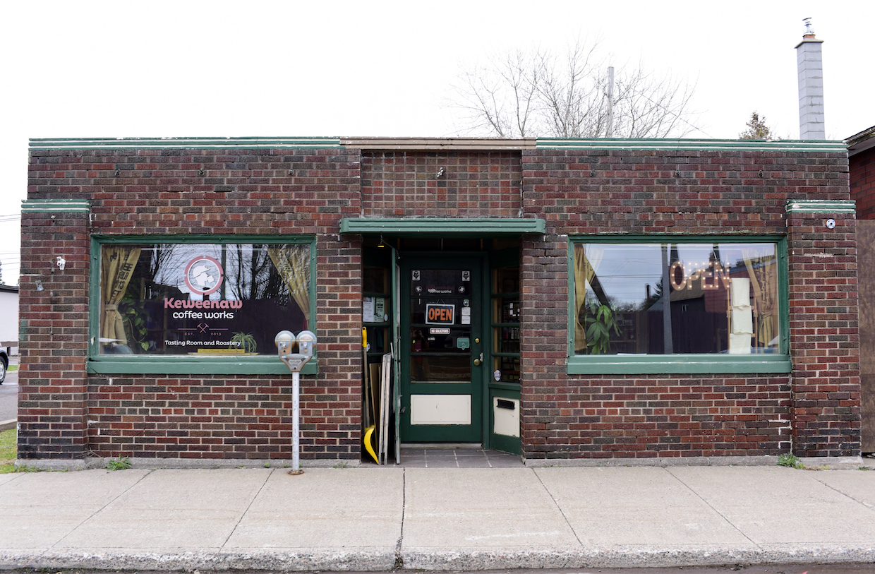 The existing Keweenau Coffee Works roastery and tasting room in Calumet. All images courtesy of Keweenau Coffee Works.