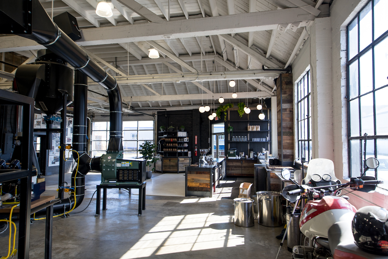 Inside the new Coava roastery and production area. All images courtesy of Coava Coffee Roasters.