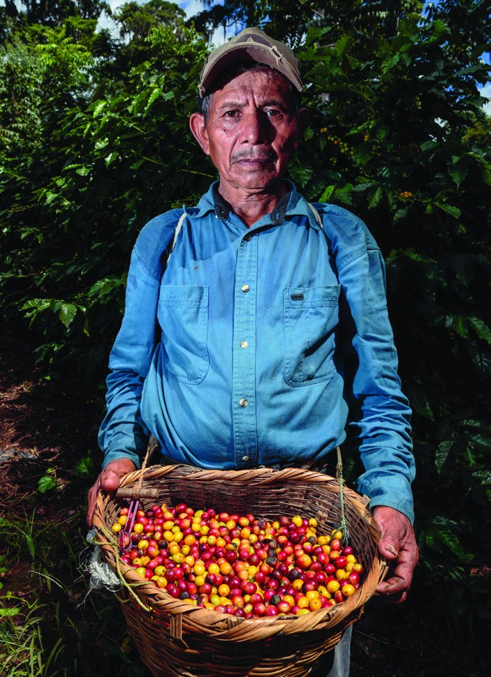 "Marcial Rodríguez, 66, is a coffee picker at Finca La Revancha. ""Fair Trade for me means help for the poor,"" he says. ""There is a committee that helps workers. They even give us loans."""