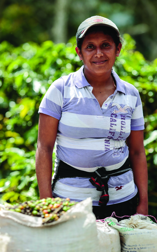 "Elizabeth Granados, 33, is a member of the worker-led Fair Trade Committee at La Revancha. ""Many mothers have received help,"" she says. ""They give us food for our children. We had a latrine project as well."""