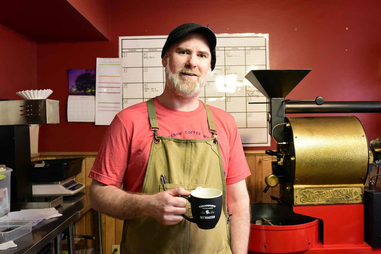 Keweenau roaster Nate Shuttleworth.