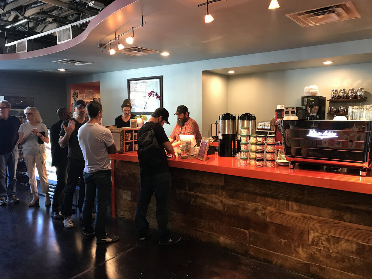 The new South Congress location of Bennu Coffee. All images courtesy of Bennu Coffee.