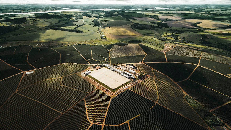 Ipanema's Fazenda Conquista pictured from above.
