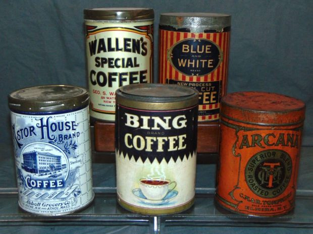 Treasure Trove of Vintage Coffee Tins and Artifacts Up for Auction