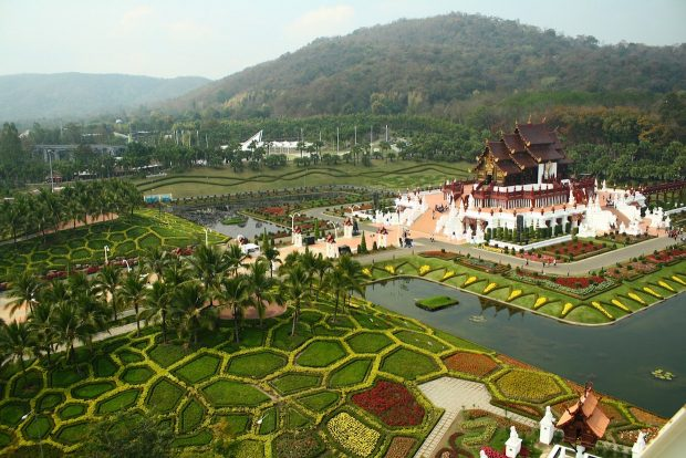 Royal Pavilion (Ho Kham Luang) In Royal Park Ratchaphruek Of Chiang Mai