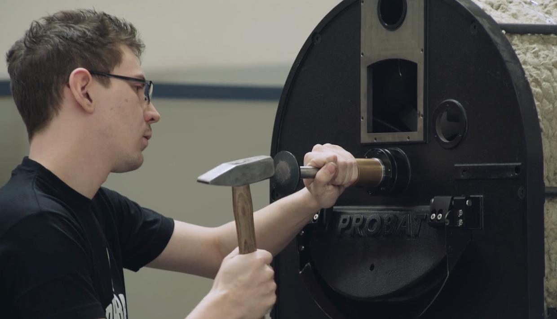 probat roaster assembly