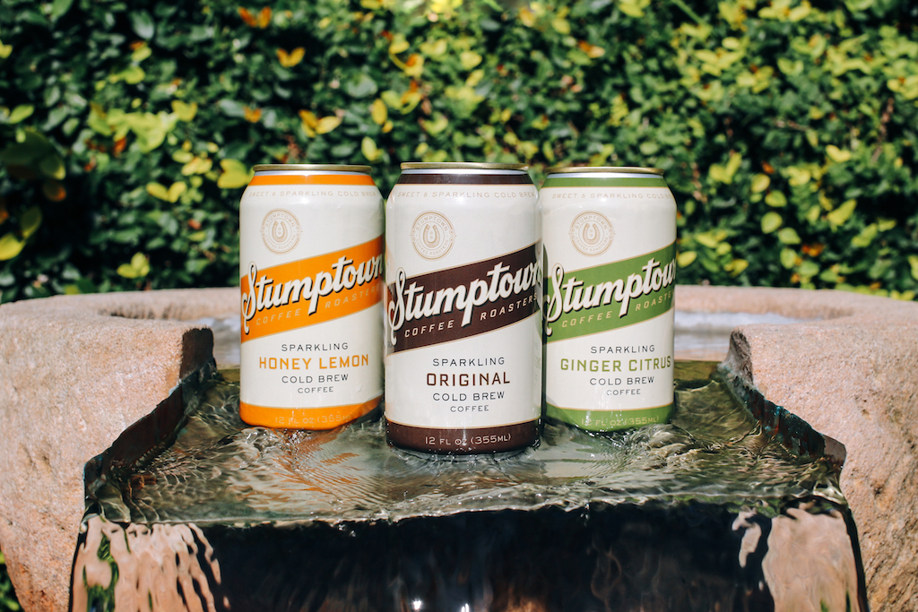 Stumptown's recently released sparkling coffee line. Stumptown Coffee Roasters photo.