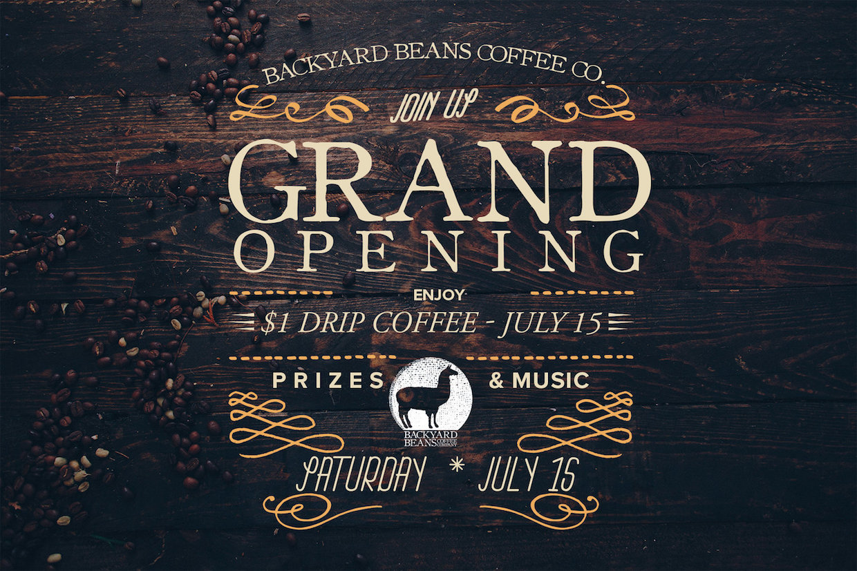 backyard beans grows in to a loring hosting grand opening outside