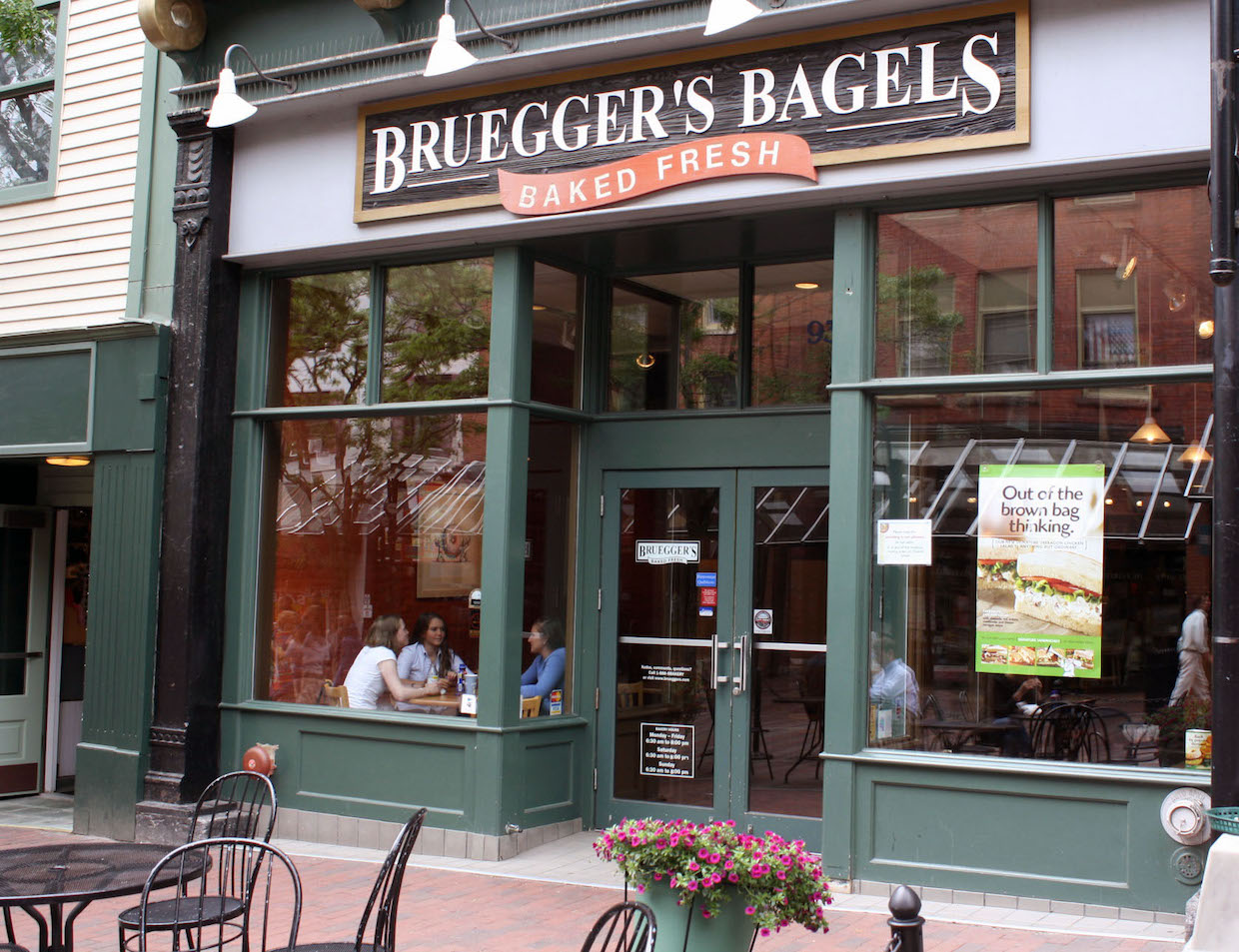 Bruegger S Bagels And Caribou Coffee