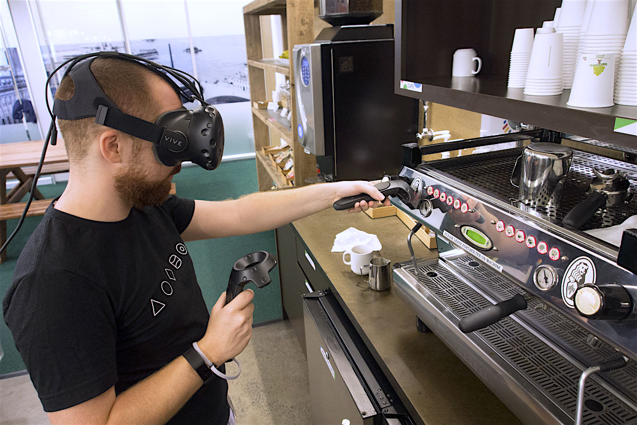 virtual reality barista training