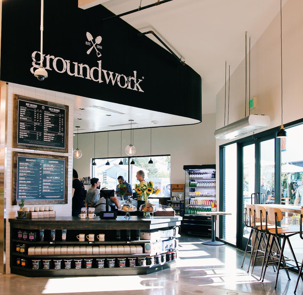 Groundwork coffee not allegro opens in two new whole for Food bar santa monica
