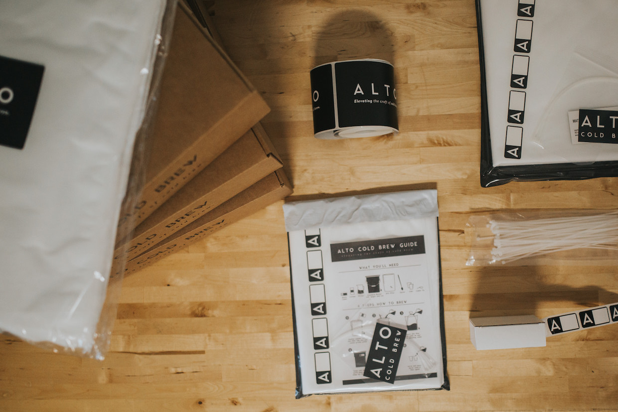 Alto cold brew filter system coffee
